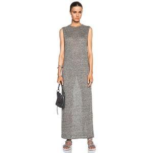 T Alexander Wang Muscle Tee Linen Maxi Dress